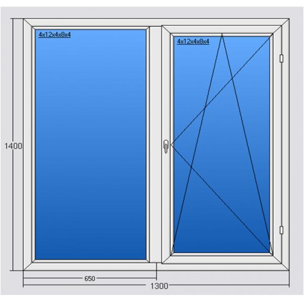 Окно 1300*1400 Steko R500