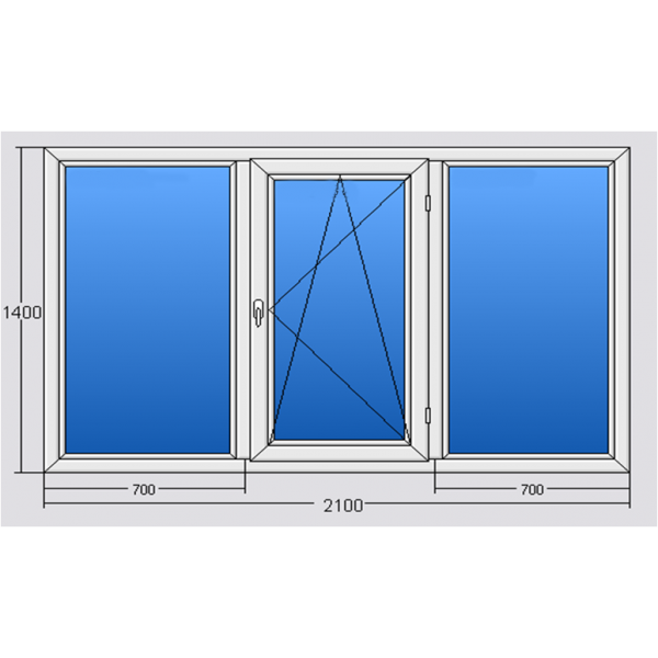 Окно 2100*1400 Steko S300